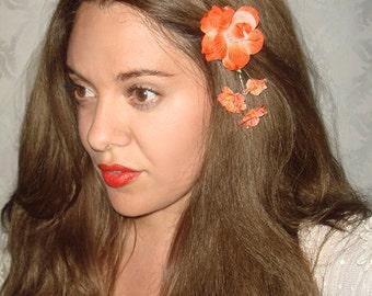 Flower Headpiece, Hair Accessories, Hair Clip, Spring, Fall, Wedding Flowers, Floral Hair Accessory,Summer, Flower Clips - CLEMENTINE