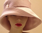 Cloche SunHat in Sand linen