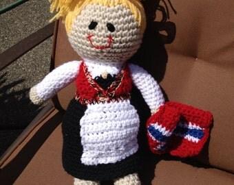 Long Lena Norwegian Bunad Doll