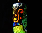 Dichroic Glass  Pendant Picasso Style