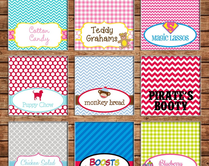 Party Food Tent Cards or Place Cards - Made to match ANY of my invitations