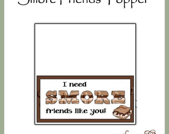 Smore Friends Topper - Digital Printable - Immediate Download