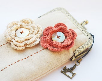 iPhone Case iPhone sleeve gadget case / Glasses Case -- Crochet Flower  (iPhone 7/iPhone 7 Plus/Samsung Galaxy S7 etc.)