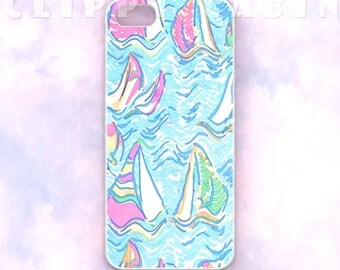 Blue Sailboats iPhone Case Sailboats Pattern, Sail Boats Pattern, iPhone 5 Case, iPhone 5s Case, iPhone 4 Case, iPhone 4s Case Sails Sailing