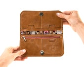"""Leather Fold Wallet """"The Filly"""" in Rustic Gold"""