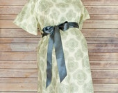 ON SALE -  Mira Maternity Hospital Delivery Gown --Super Soft Fabric -Snaps for Breastfeeding & Skin to Skin -Snaps down the back