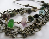 reserved for Beth--Boho Chic Chain and Leather Multistrand Necklace by Allekram Designs