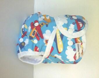 One Size AI2 Cloth Diaper or cloth diaper cover, airplane cloth diaper