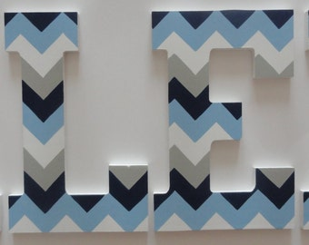 Chevron Wall Letters