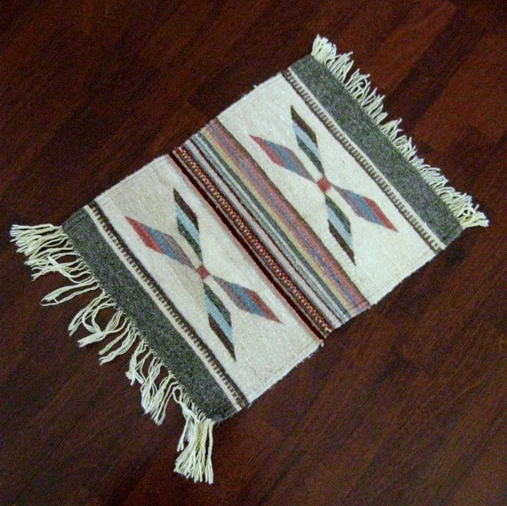 Vintage Woven Rug Tapestry Indian Southwest Wall By