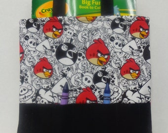 Angry Birds Crayon Tote