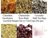 Dried Flowers, Dried Lavender - Calendula, Chamomile, Eucalyptus, Lavender, Rose Buds, Empty Bath Tea Bags
