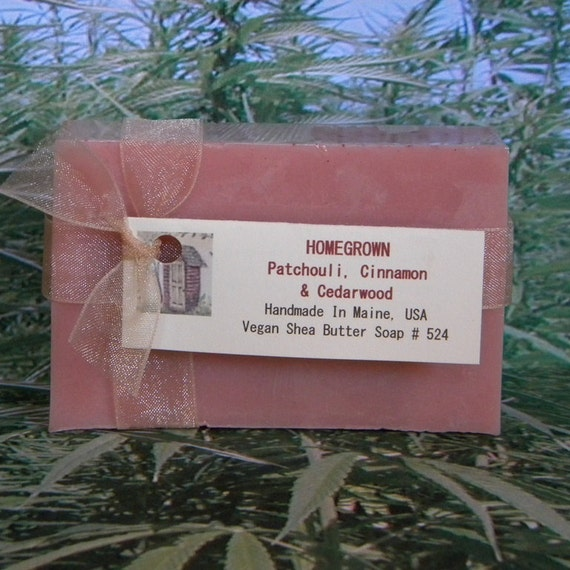 HOMEGROWN Patchouli Cinnamon & Cedarwood Vegan Soap - Handmade Hippie Soap