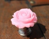 Petite Drawer knobs in Baby Pink with Rose MORE COLORS Available (RFK07)