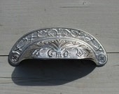 Ornate Silver Cup Drawer Pull - Bin Pull - Shell Pull (RTG11)