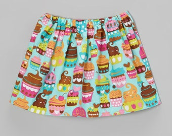 Turquoise Cupcake Skirt. . . Size 5T Ready to Ship . . . handmade by Elle's Attic