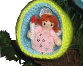 Christmas Diorama Ball ANGEL Ornament Pdf Email Knit PATTERN