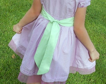 Mint Sash - Cotton - Flower Girl, Brides Maid                                  2 weeks before shipping