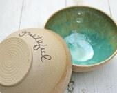 blue ceramic bowl; stoneware ereal bowl; clay soup bowl; small serving bowl; blue side bowl; blue pottery bowl; grateful bowl