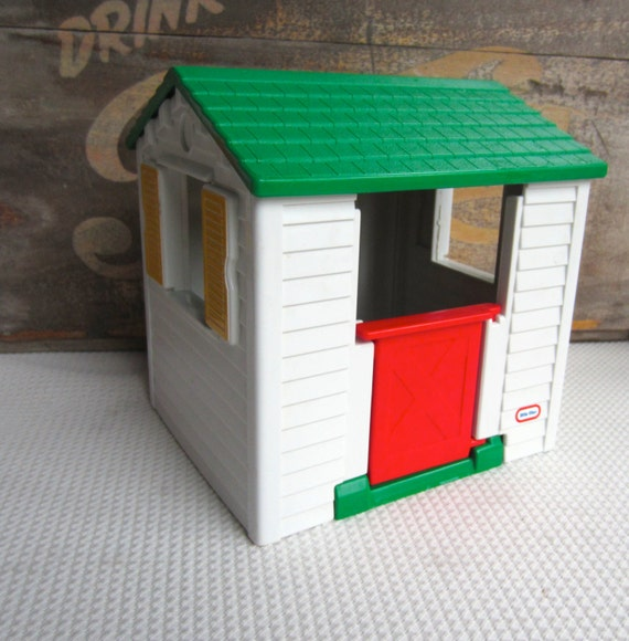 Vintage Little Tikes White Play House Dollhouse Toy By
