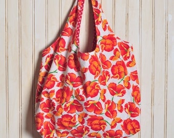 Tote Bag Original - Red and Orange Poppies