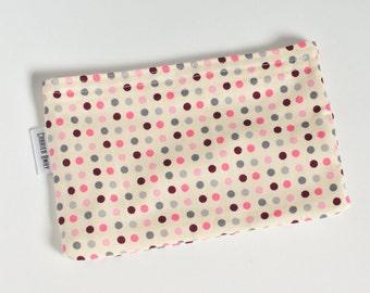 Reusable Snack Bag - Dots on cream