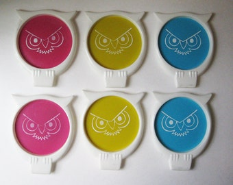 Retro Owl Coasters