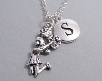 Cheerleader Silver Plated Charm jewelry Supplies