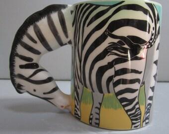 Sale 50% ~ A  Zebra Ceramic Coffer/Tea  Mug  -