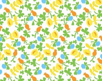 Heather Ross, BRIAR ROSE for Windham Fabric, Calico in Blue, 11 X 44 inches