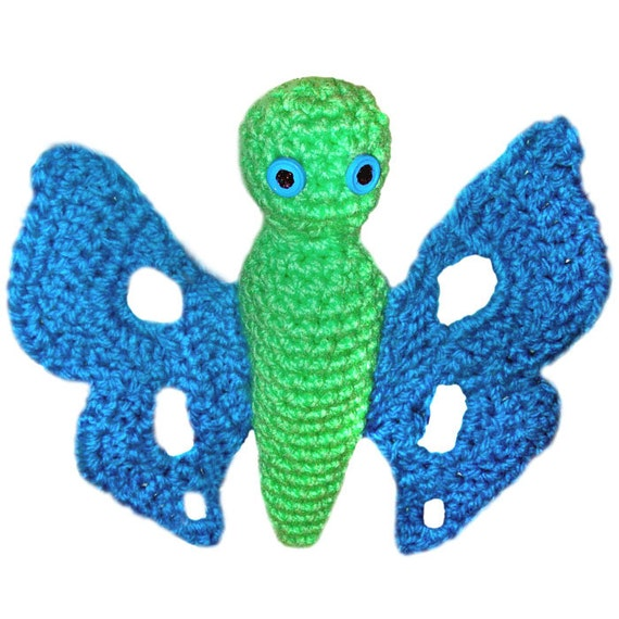 Free Download Crochet Butterfly Pattern : Items similar to Gracie the Butterfly - PDF Crochet ...