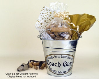 Personalized Small Pail, Coach Gift, Appreciation Gift, Custom Gift Bucket - Small Size (1.5qt)