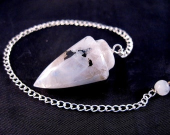 Rainbow Moonstone Pendulum with Pouch