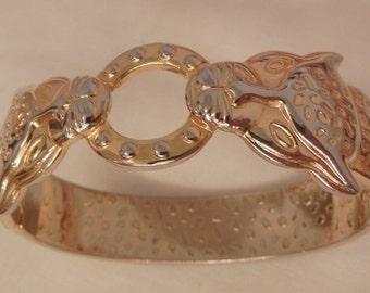 Beautiful Double tiger side open hinged bangle Bracelet