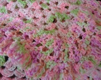 Pink Ruffly Baby Girl Blankie So Soft