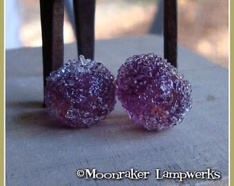 Purple Plum Sugar Ice Lampwork Bead