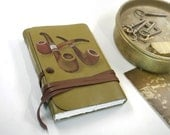 Journal - Handmade Leather Journal, Notebook in Vintage Style with Blank Thick Paper - The Pipe Collector