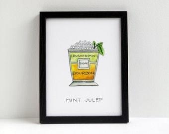 Mint Julep Cocktail Print