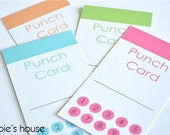 Punch Card Printable PDF - Instant Download