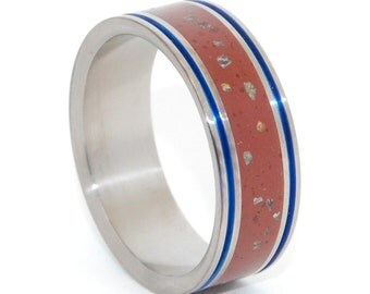 Titanium Wedding Band, Mens Ring, Womens Ring, Eco-Friendly, Unique Wedding Rings - STORM