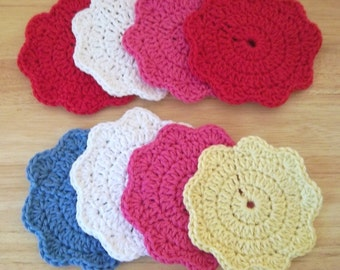 Small Crochet Coasters