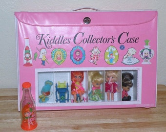 LIDDLE KIDDLE Collectors Case with 6 Dolls, Olivia Orange, Car and More