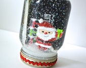RESERVED for Lauren - Gift Card Holder Snow Globe Kit - HoHoHo Santa SNOW GLOBE Gift Card Holder - Christmas Gift Wrapping