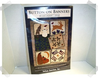 Button on Banners PATTERN/Craft Supplies*