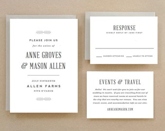 Printable Wedding Invitation Template | INSTANT DOWNLOAD | Rustic | Word or Pages | Easy DIY | Editable Artwork Colors