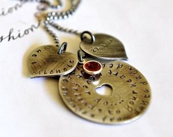 Gift Best Friends Jewelry Hearts Birthstone 50th Birthday