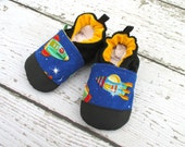 Sale Classic Vegan Race for Space / Non-Slip Soft Sole Shoes / Made to Order / Babies Toddlers Preschool