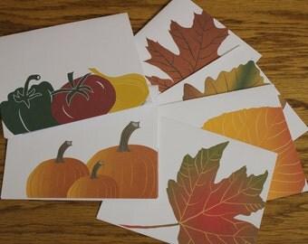 Fall / Autumn / Harvest Notecards