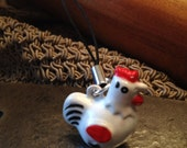 Rooster Bell Charm for Cell Phone, Zipper or Keychain