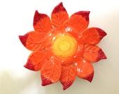 Orange Leaf Tea Light Dish